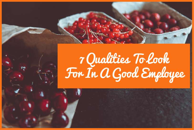 7 Qualities To Look For In A Good Employee by newtohr.com