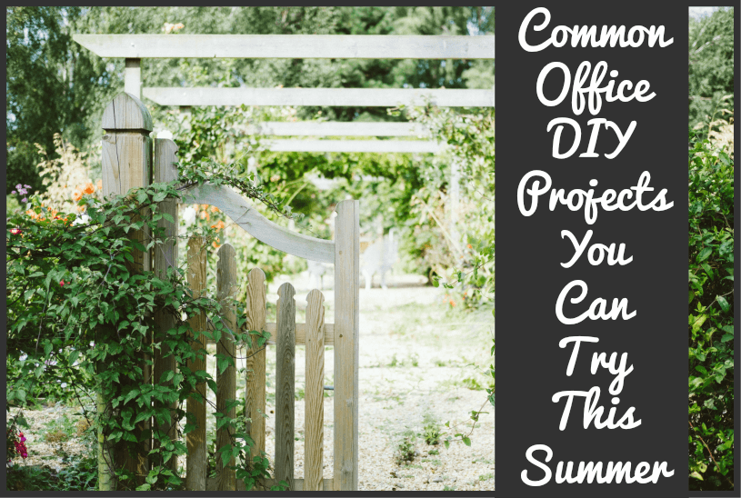 Common Office DIY Projects You Can Try This Summer by newtohr.com