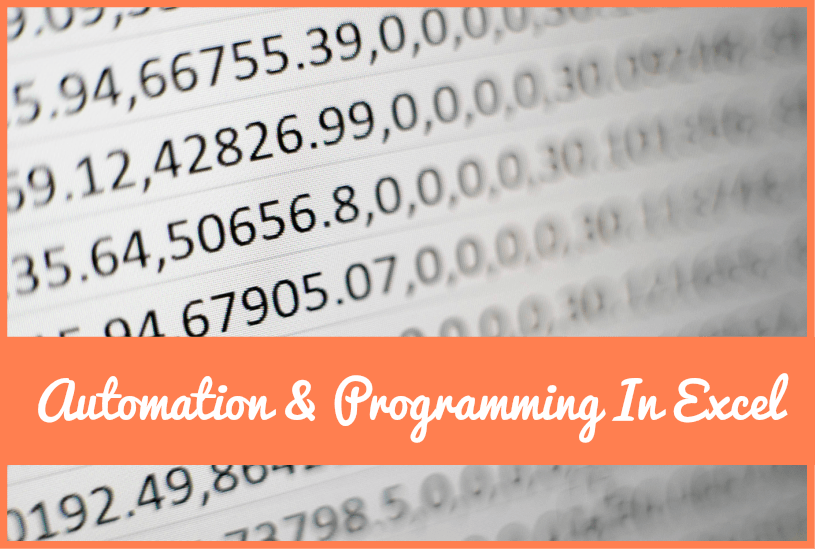 Automation And Programming In Excel by #NewToHR