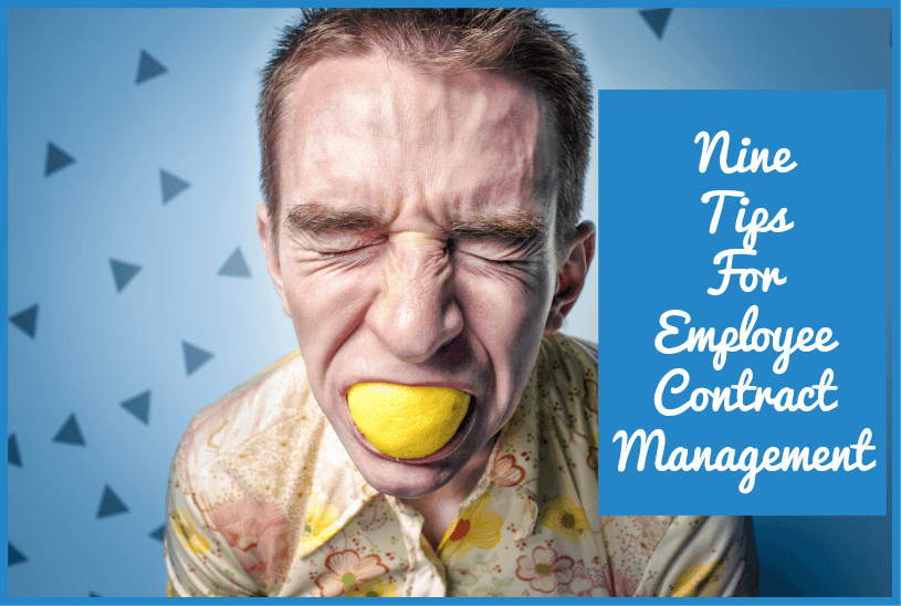 Nine Tips For Employee Contract Management by newtohr.com