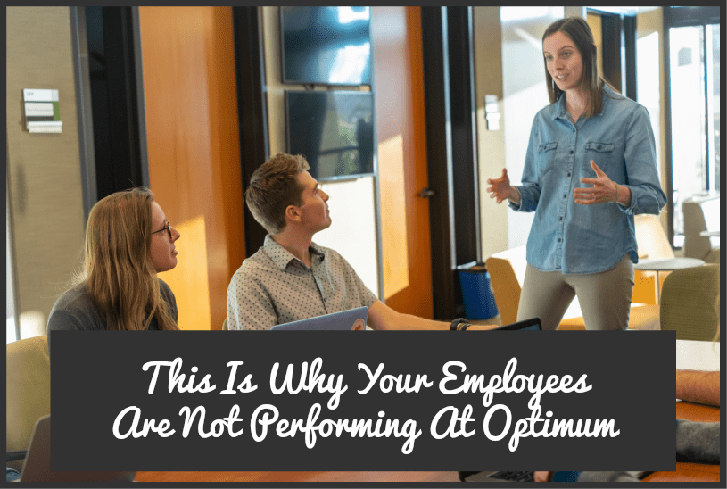 This Is Why Your Employees Are Not Performing At Optimum by #NewToHR